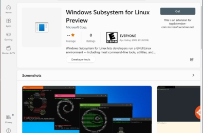 Microsoft Windows Subsystem for Linux app