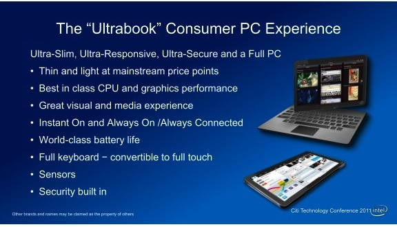 Intel: Touch-based Ultrabooks With Windows 8 Coming Next Year 1