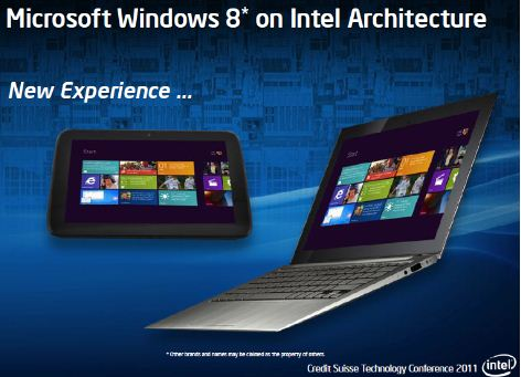 Windows 8 on Intel