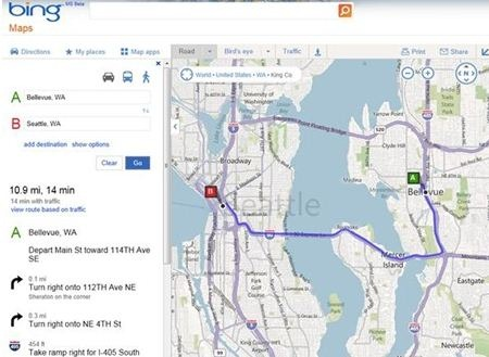 Bing Maps Makes Sharing Maps And Directions Easier - MSPoweruser