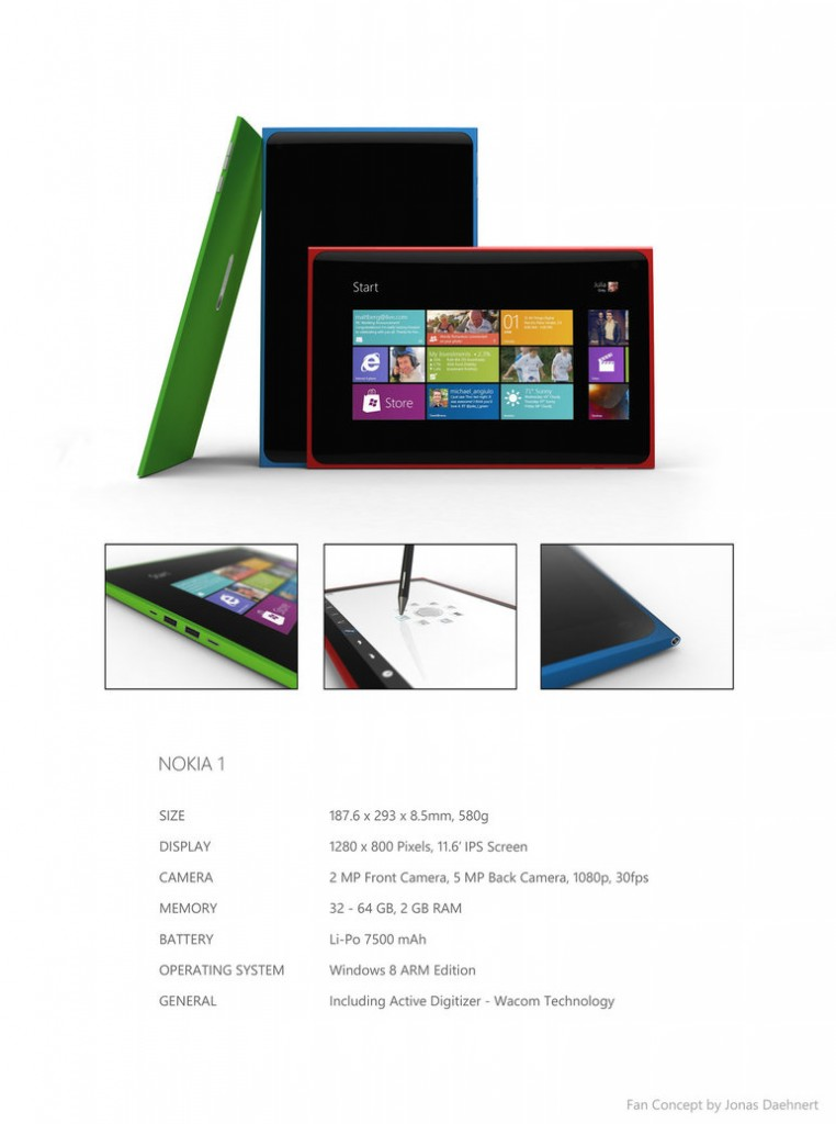 Nokia 1 Windows 8 Tablet Concept Desgin Looks Great 2