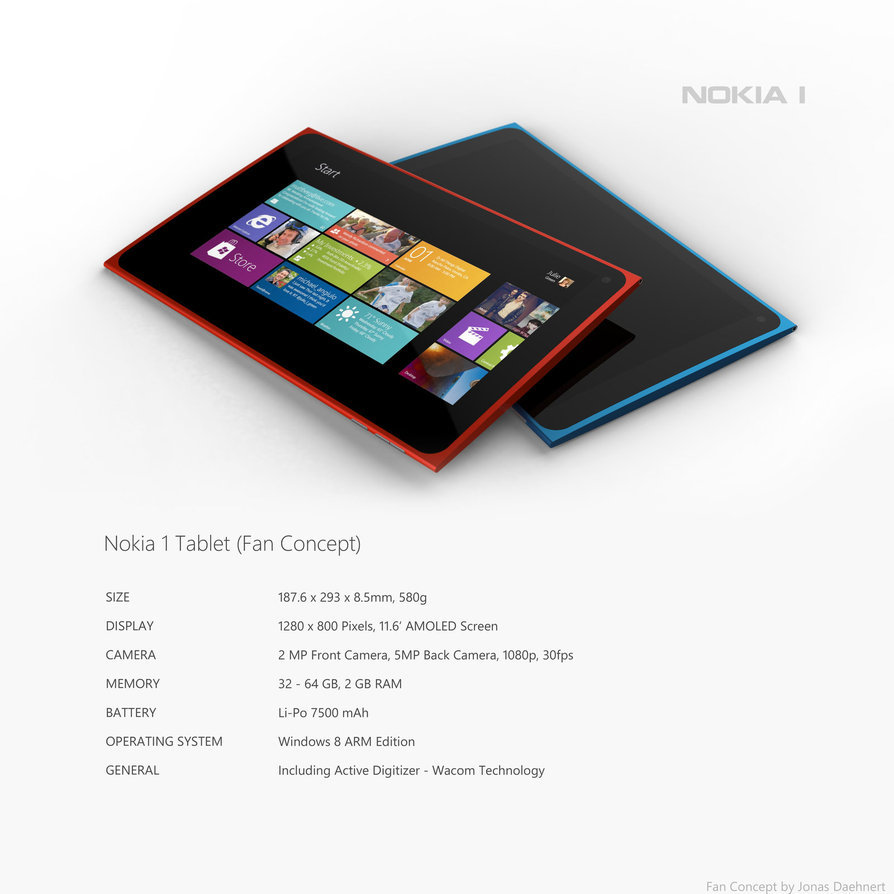 Nokia 1 Windows 8 Tablet Concept Desgin Looks Great 1