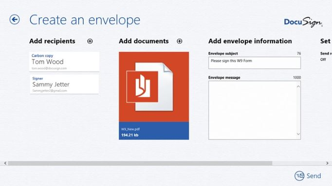 Docusign Windows 8 Store