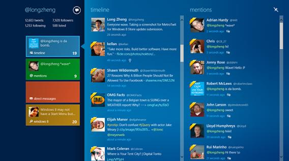 Gleek the coolest and the fastest twitter app for windows 8.
