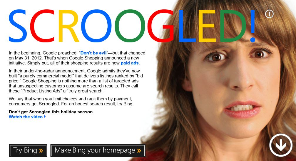 Scroogled Bing Campaign
