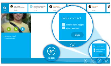 Skype Contact Blocking