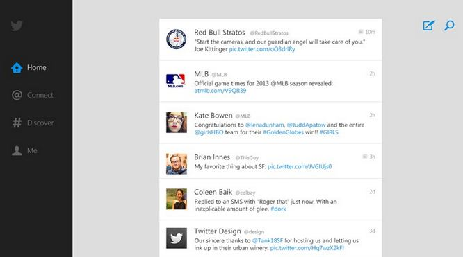 Twitter Windows 8 Store