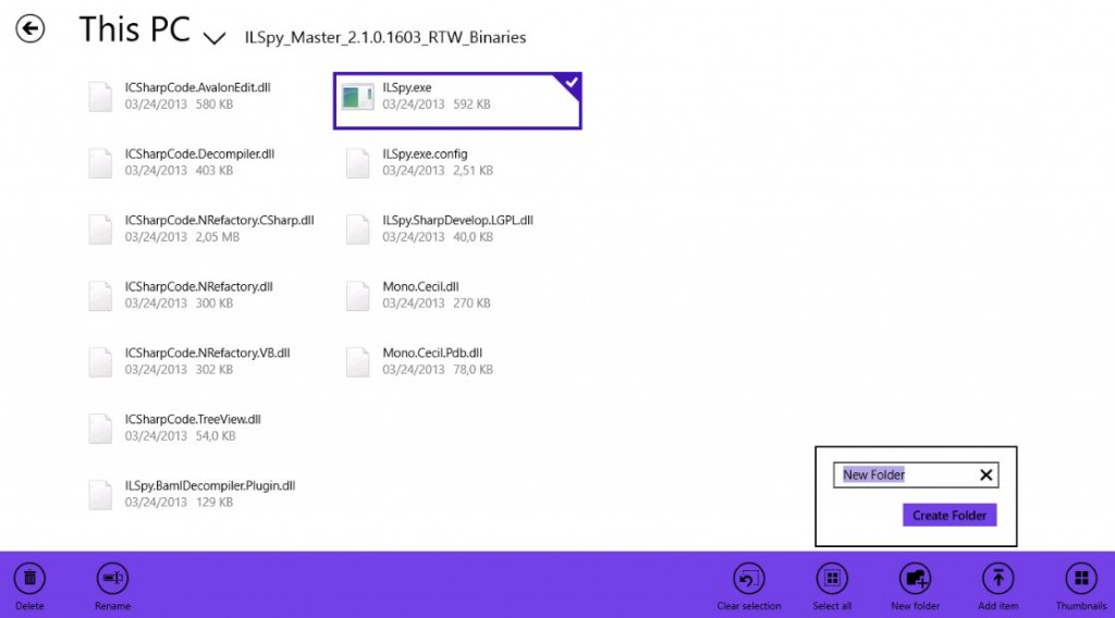 Windows 8 Modern File manager