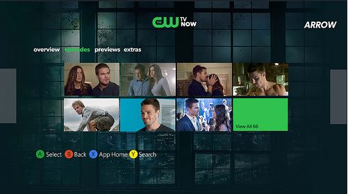 CW TV Now Xbox App