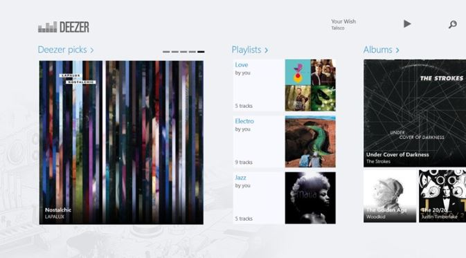 Deezer Windows Store