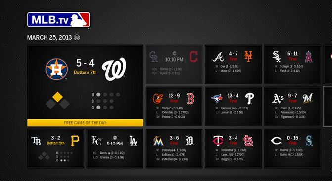 MLB TV Windows Phone app