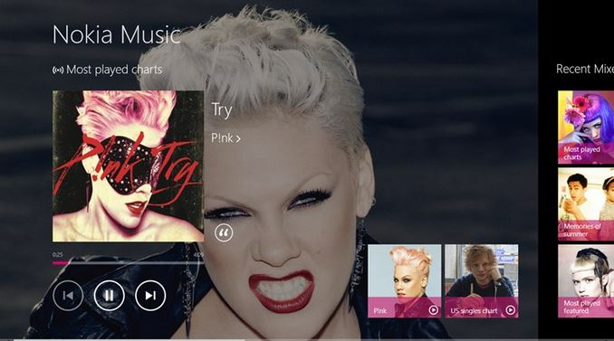 Nokia Music Windows 8 Store app