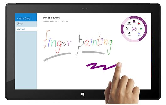 OneNote Finger Painting