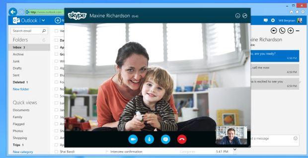 Skype Video Calling Outlook
