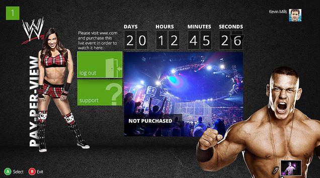 WWE Xbox App