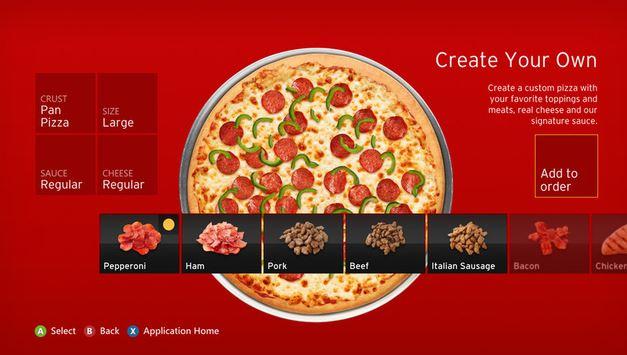 Xbox Pizza App
