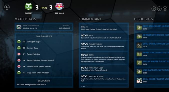 Major League Windows 8 App