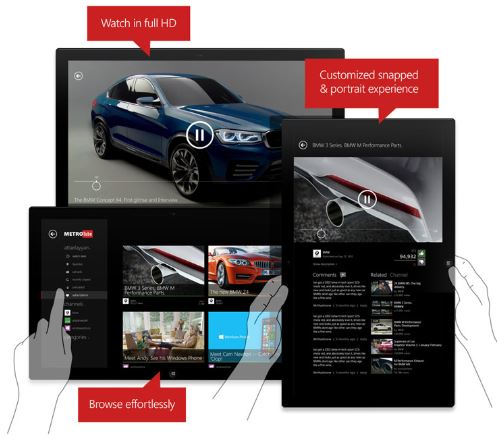 MetroTube Windows Store