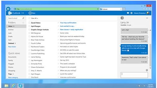Outlook Gtalk