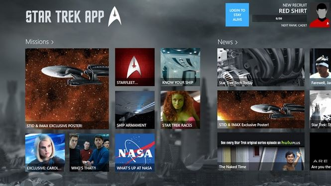 Star Trek Windows Store app