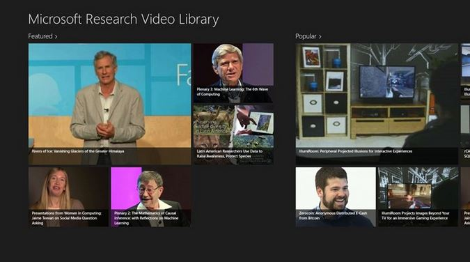 Microsoft Research Video Library