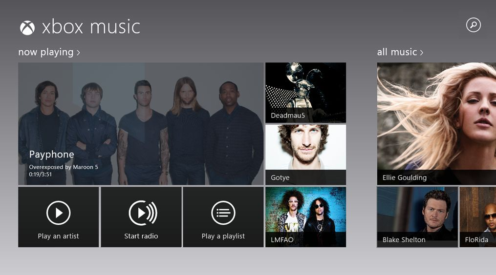 Xbox Music Windows Store
