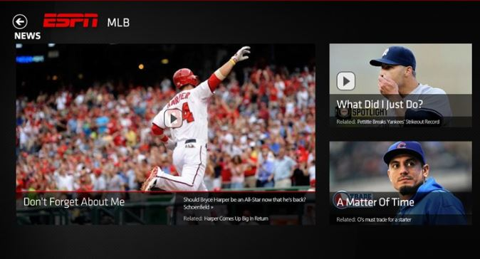ESPN App Windows Store
