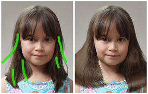MSR hair manipulation