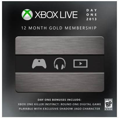 Microsoft Xbox LIVE Gold Day One