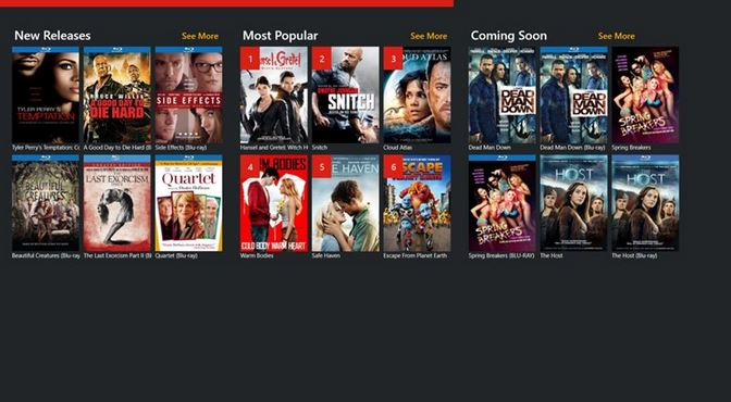 RedBox Windows Store app