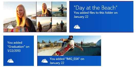 SkyDrive newsfeed