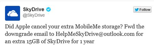 SkyDrive MobileMe Offer