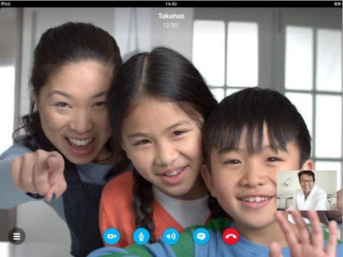 Skype iPad HD call
