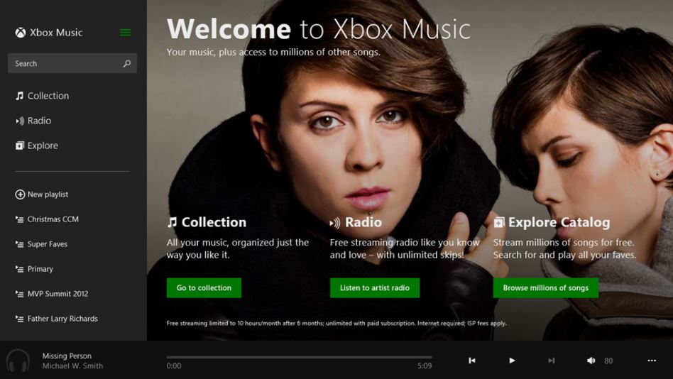 Xbox Music App Windows Store