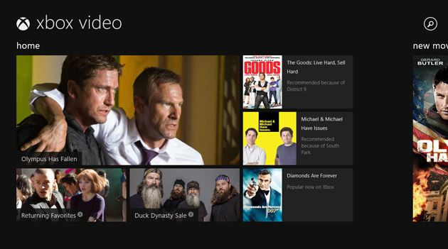 Xbox Video App Windows Store 8.1