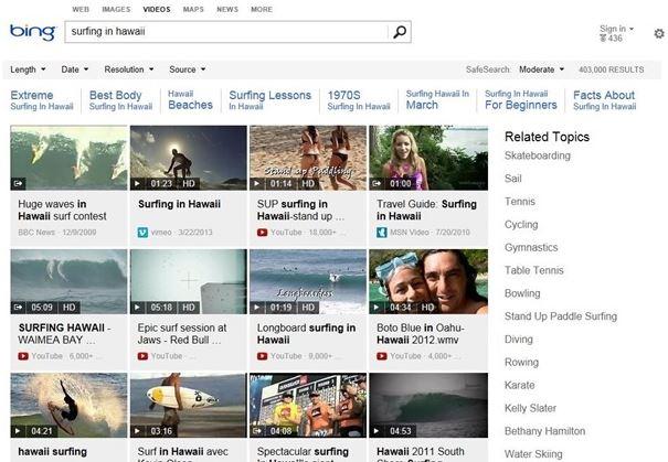 Bing Videos Update
