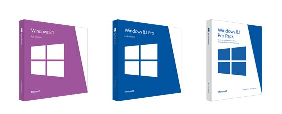 Microsoft Windows 8.1 Packaging