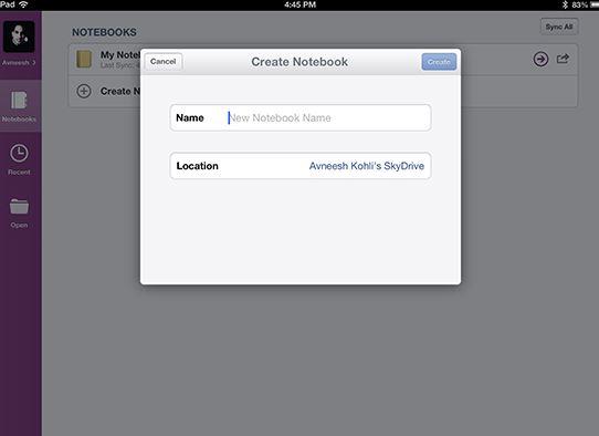 OneNote iOS App