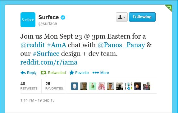 PSA: Surface Team To Hold Reddit AMA Monday - MSPoweruser