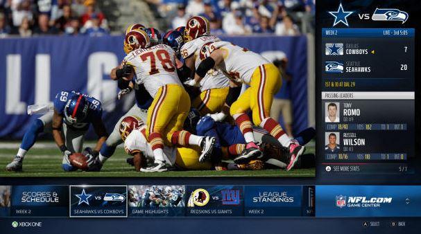 Xbox One NFL App