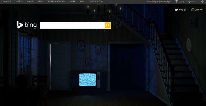 Bing Halloween Home page