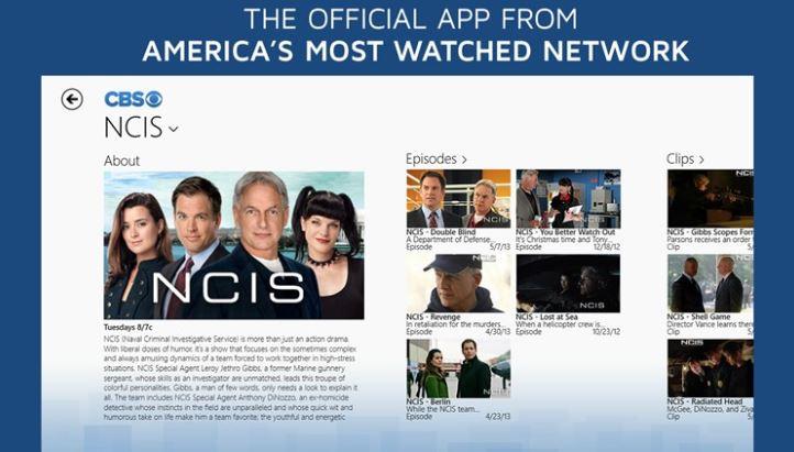 CBS Windows Store app