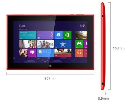 Lumia 2520 Specs vs iPad Air