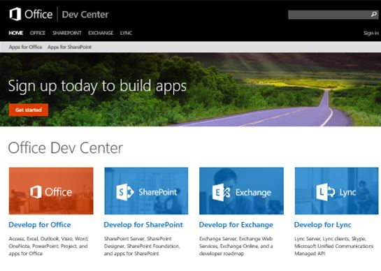 Microsoft Office Dev Center