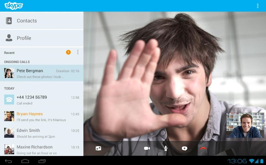 Skype for Android Tablet