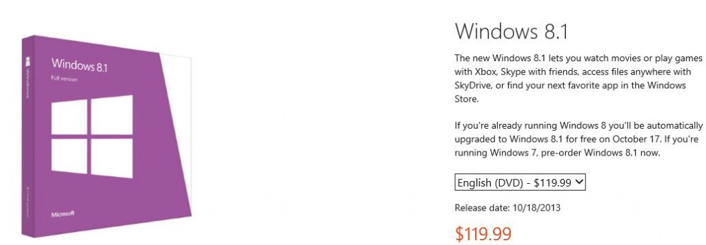 Windows 8.1 Pre order