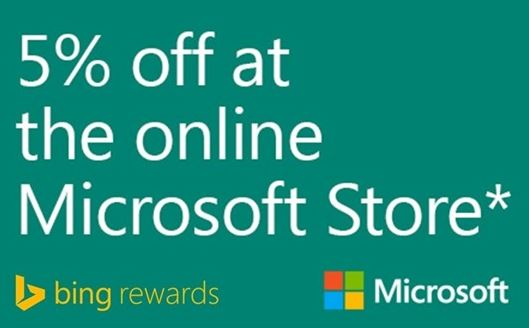 Microsoft Bing Rewards Store offer