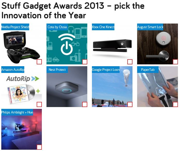 Stuff Gadget Of The Year Xbox Kinect