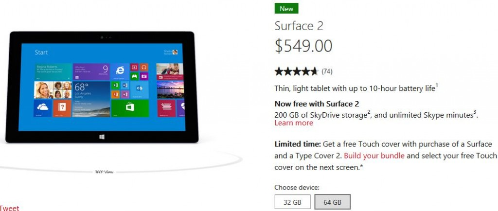 Surface 2 Deal