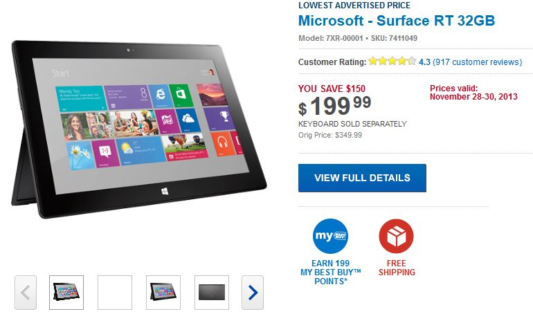 Surface RT Blackfriday Deal